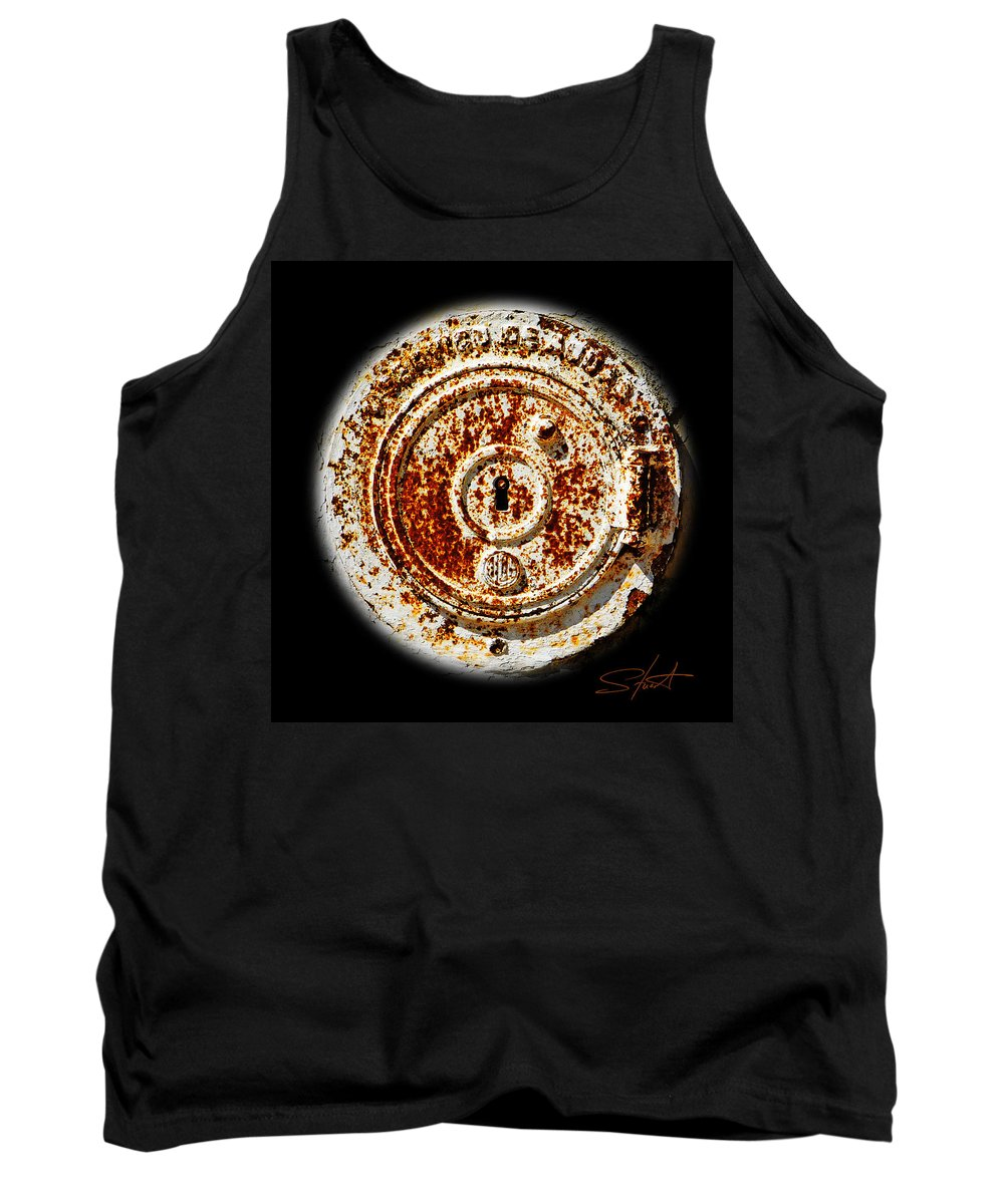 Manhole Tank Top featuring the photograph White Water by Charles Stuart