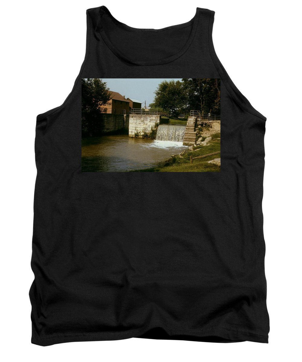 Indiana Tank Top featuring the photograph Whitewater Canal Locks Metamora Indiana by Gary Wonning