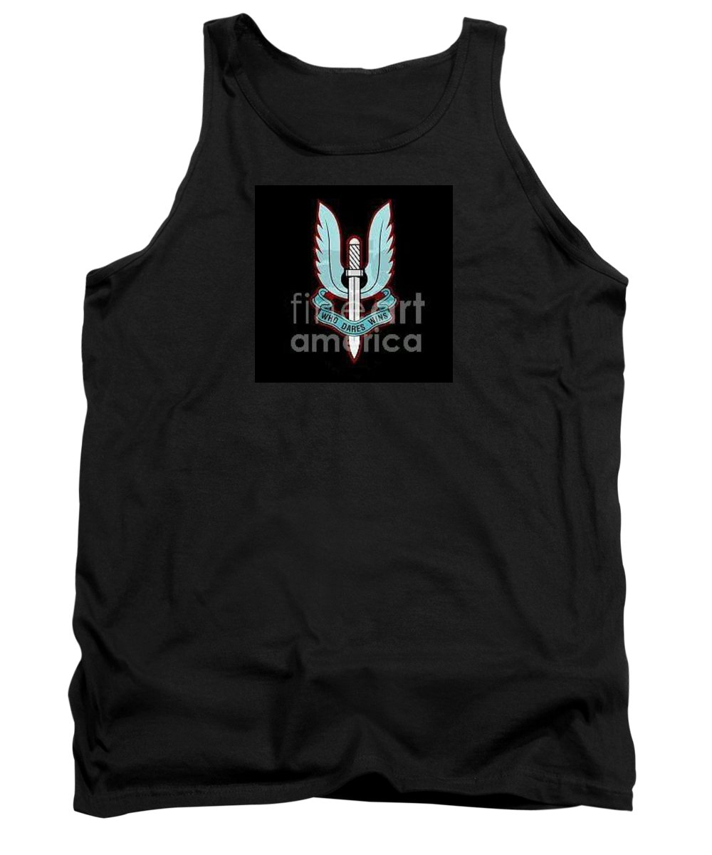 Who Dares Wins_sas_army_british Tank Top featuring the digital art Who Dares Wins by Richard John Holden RA