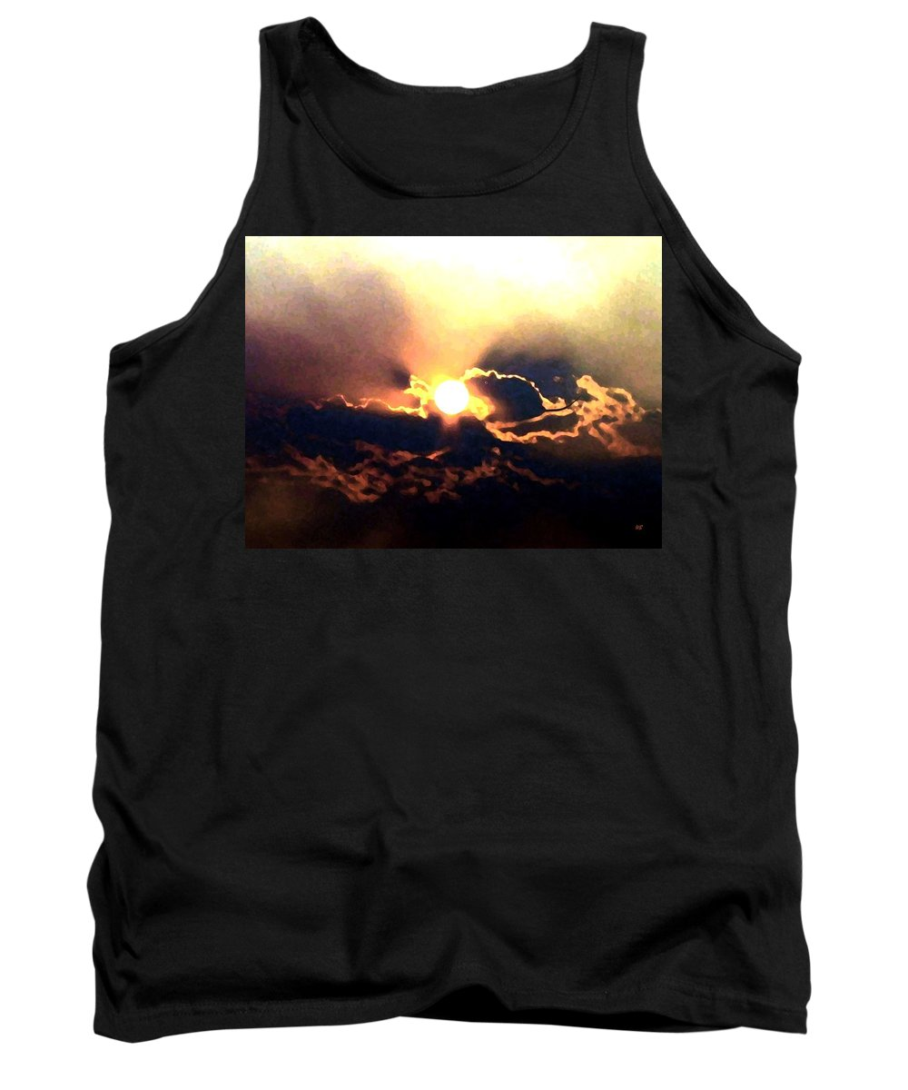 Abstract Tank Top featuring the digital art Who Has Kissed The Sun by Will Borden