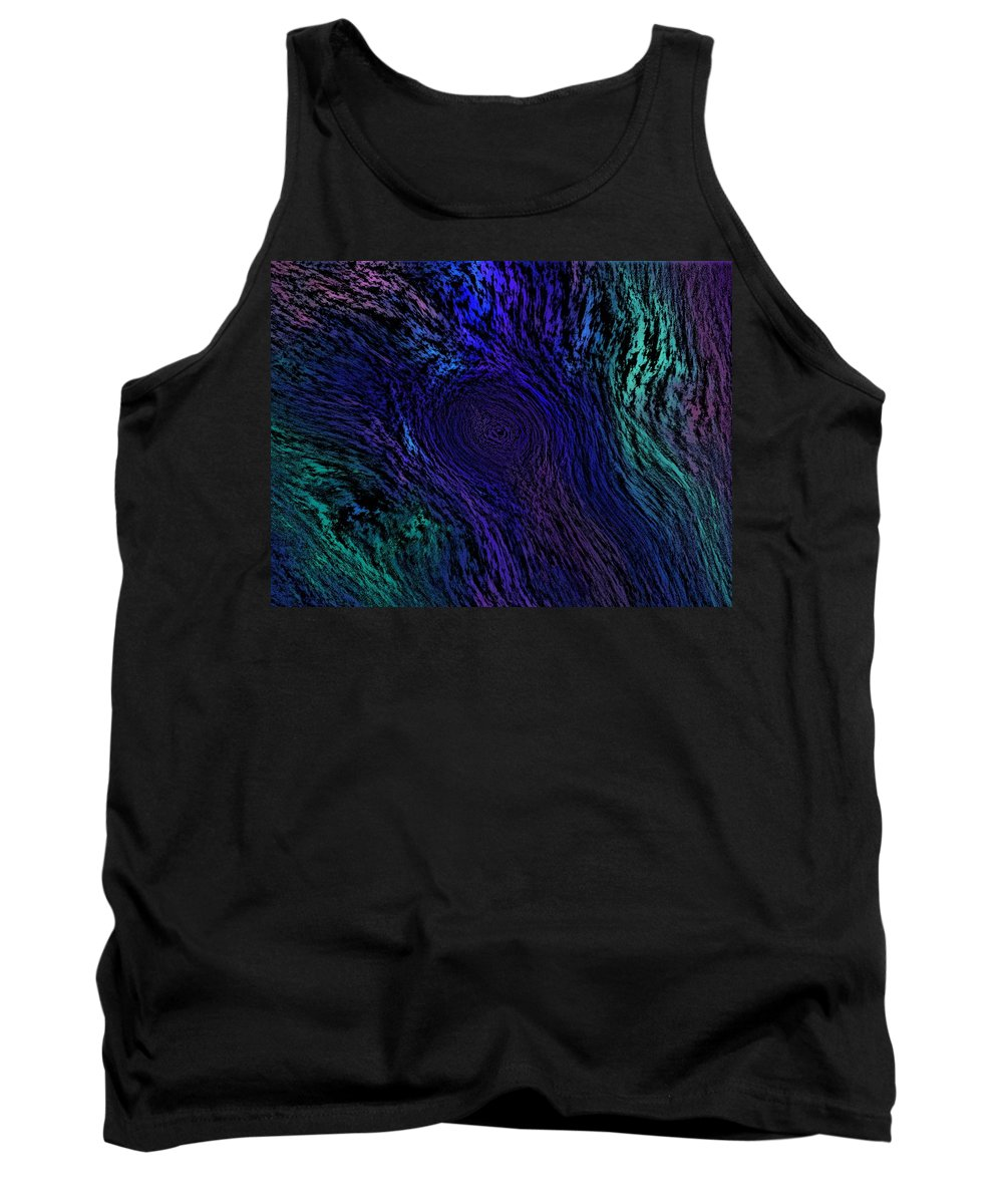 Abstract Digital Painting Tank Top featuring the digital art Whoof by David Lane