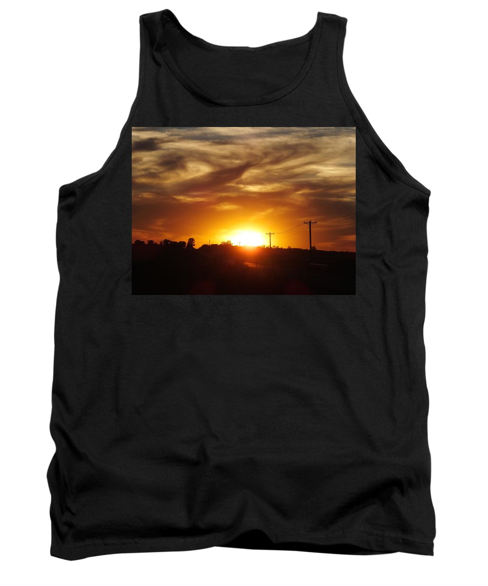 Sunset Tank Top featuring the photograph Wild Clouds by Bernadette Bisbee