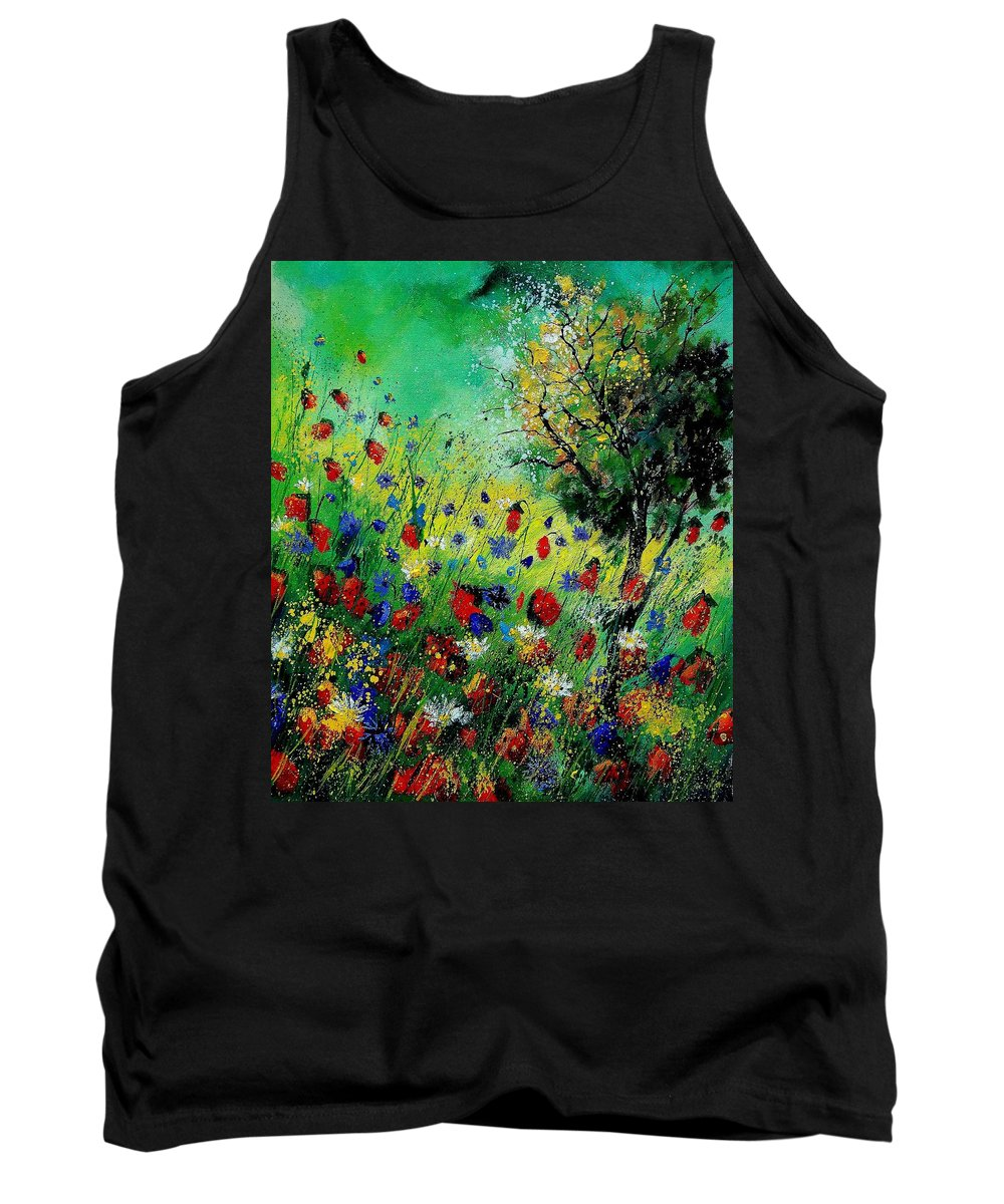 Flowers Tank Top featuring the painting Wild Flowers 670130 by Pol Ledent