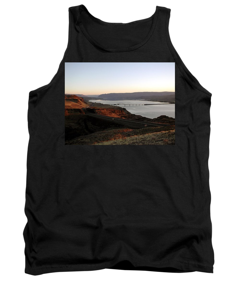 Columbia River Tank Top featuring the photograph Wild Horse Lookout - Washington by D'Arcy Evans