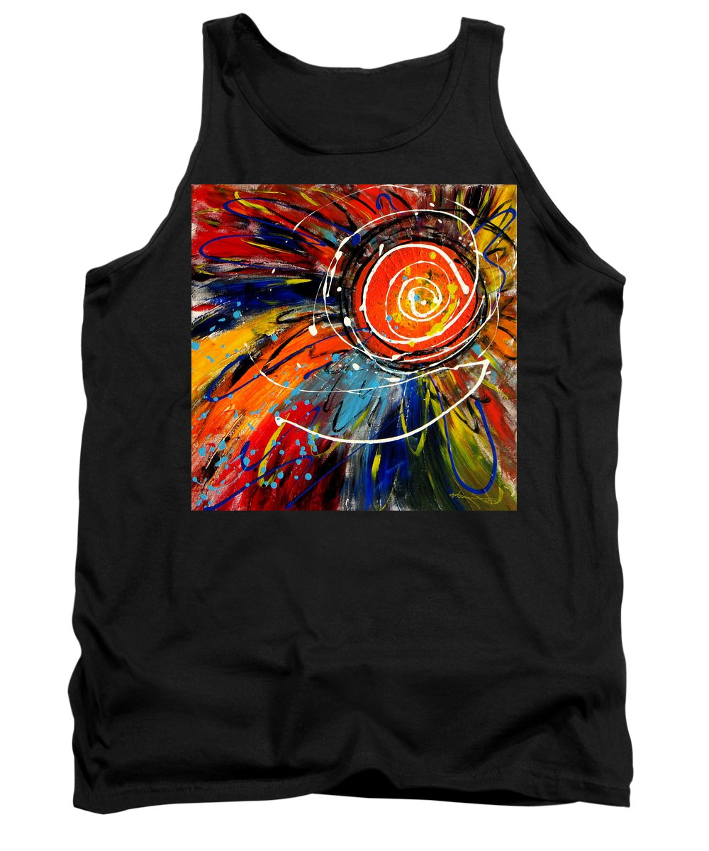 Sunflower Tank Top featuring the painting Wild Sunflower 2 by Kume Bryant