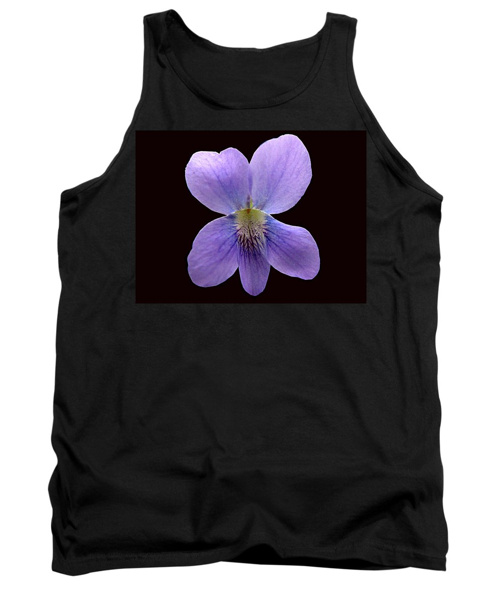 Violet Tank Top featuring the photograph Wild Violet On Black by J M Farris Photography