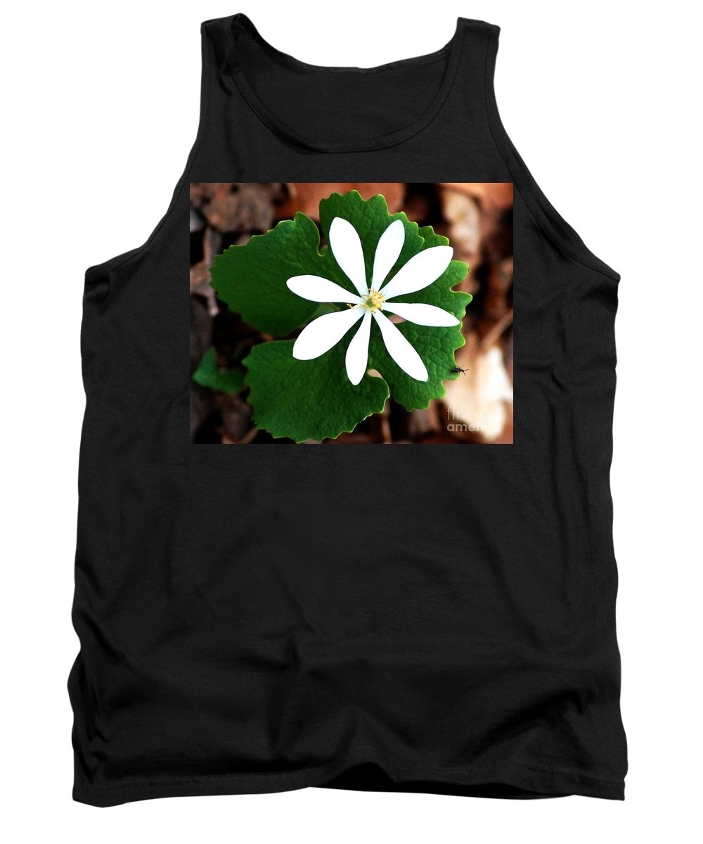 Digital Photo Tank Top featuring the photograph Wild White by David Lane