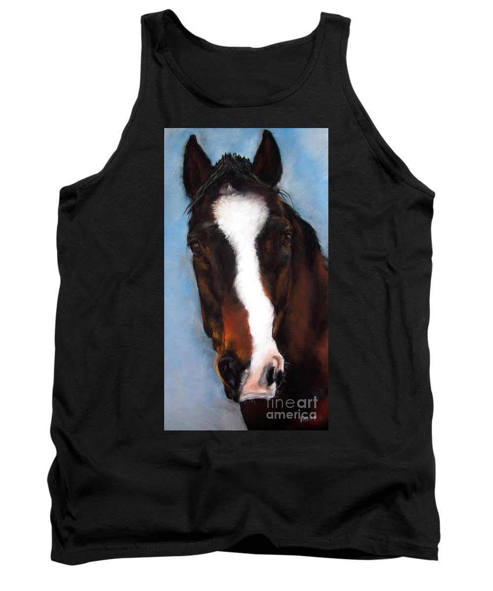 Horse Painting Tank Top featuring the painting Willie Duke by Frances Marino