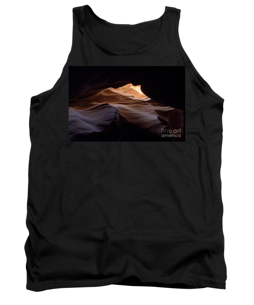Antelope Canyon Tank Top featuring the photograph Wind And Water by Kathy McClure