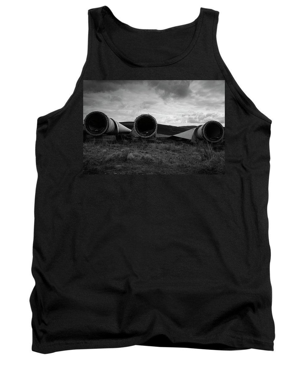 Circles Tank Top featuring the photograph Windmill Blades by Keith Elliott