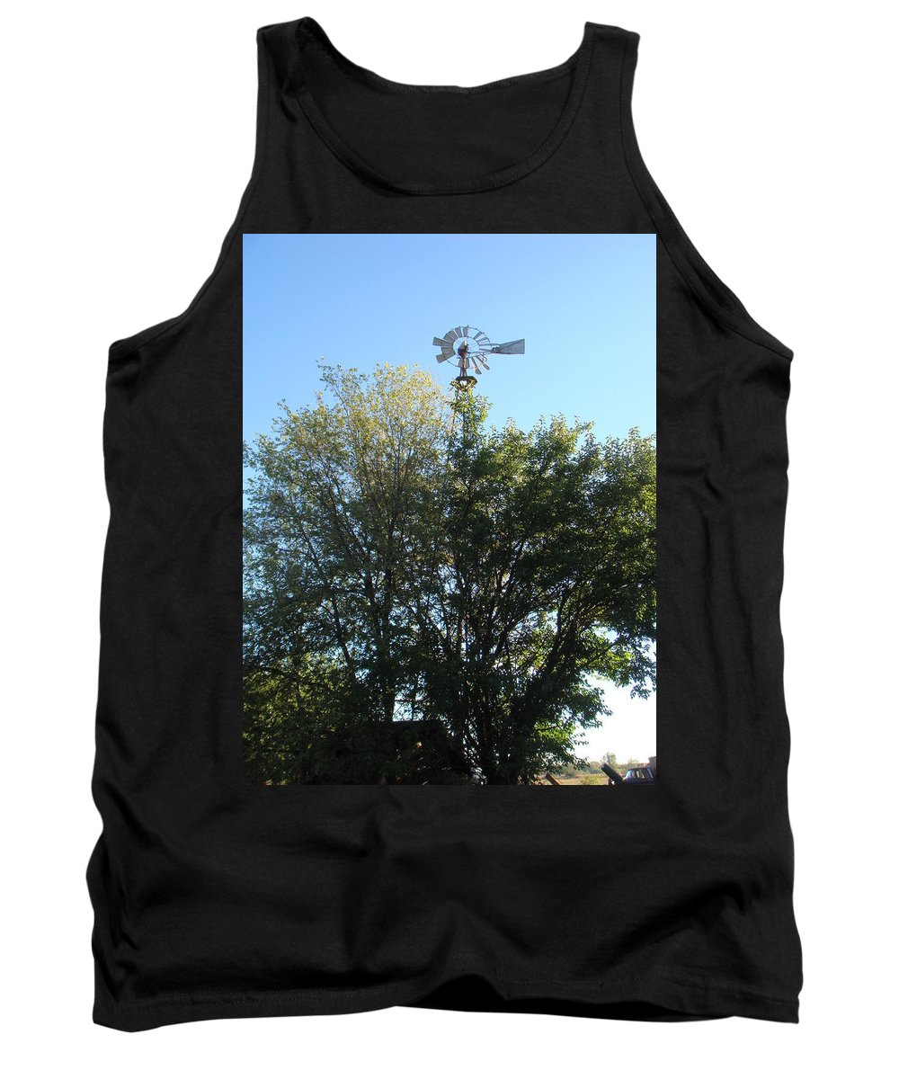 Windmill Tank Top featuring the photograph Windmill II by Bonfire Photography