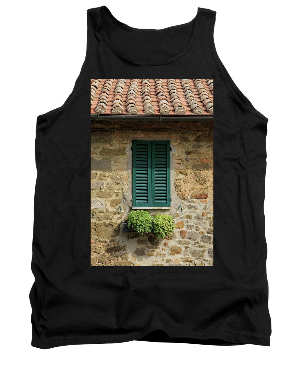 Europe Tank Top featuring the photograph Window #3 - Cinque Terre Italy by Jim Benest