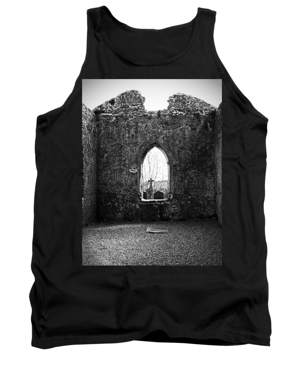 Ireland Tank Top featuring the photograph Window At Fuerty Church Roscommon Ireland by Teresa Mucha
