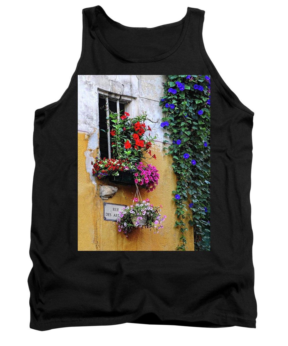 Flowers Tank Top featuring the photograph Window Garden In Arles France by Dave Mills