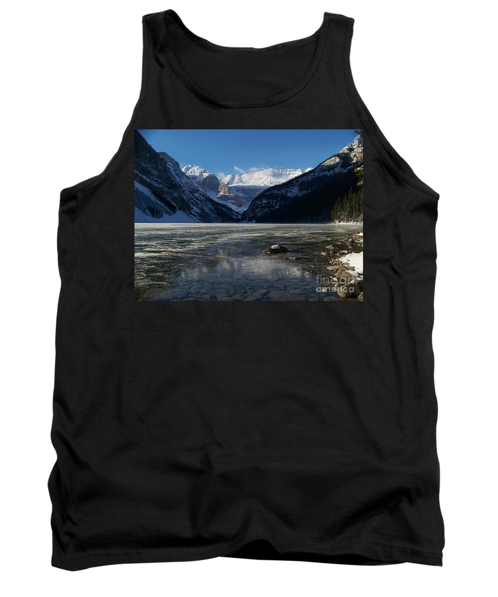 Scenic Tank Top featuring the photograph Window On The Lake by Greg Hammond