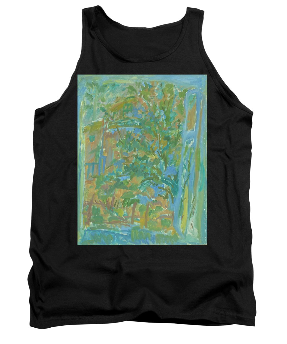 Park Tank Top featuring the painting Window by Robert Nizamov