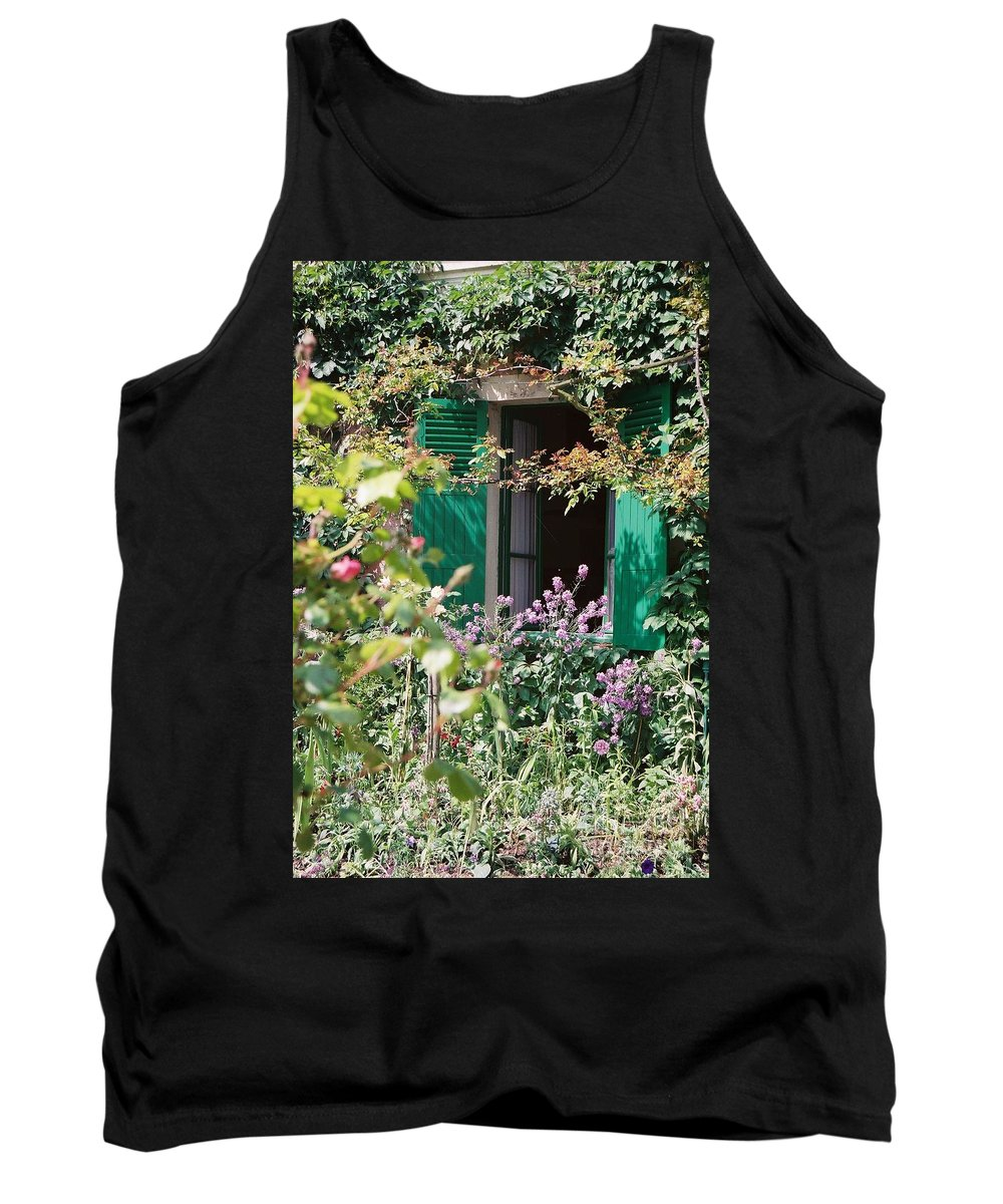 Charming Tank Top featuring the photograph Window To Monet by Nadine Rippelmeyer