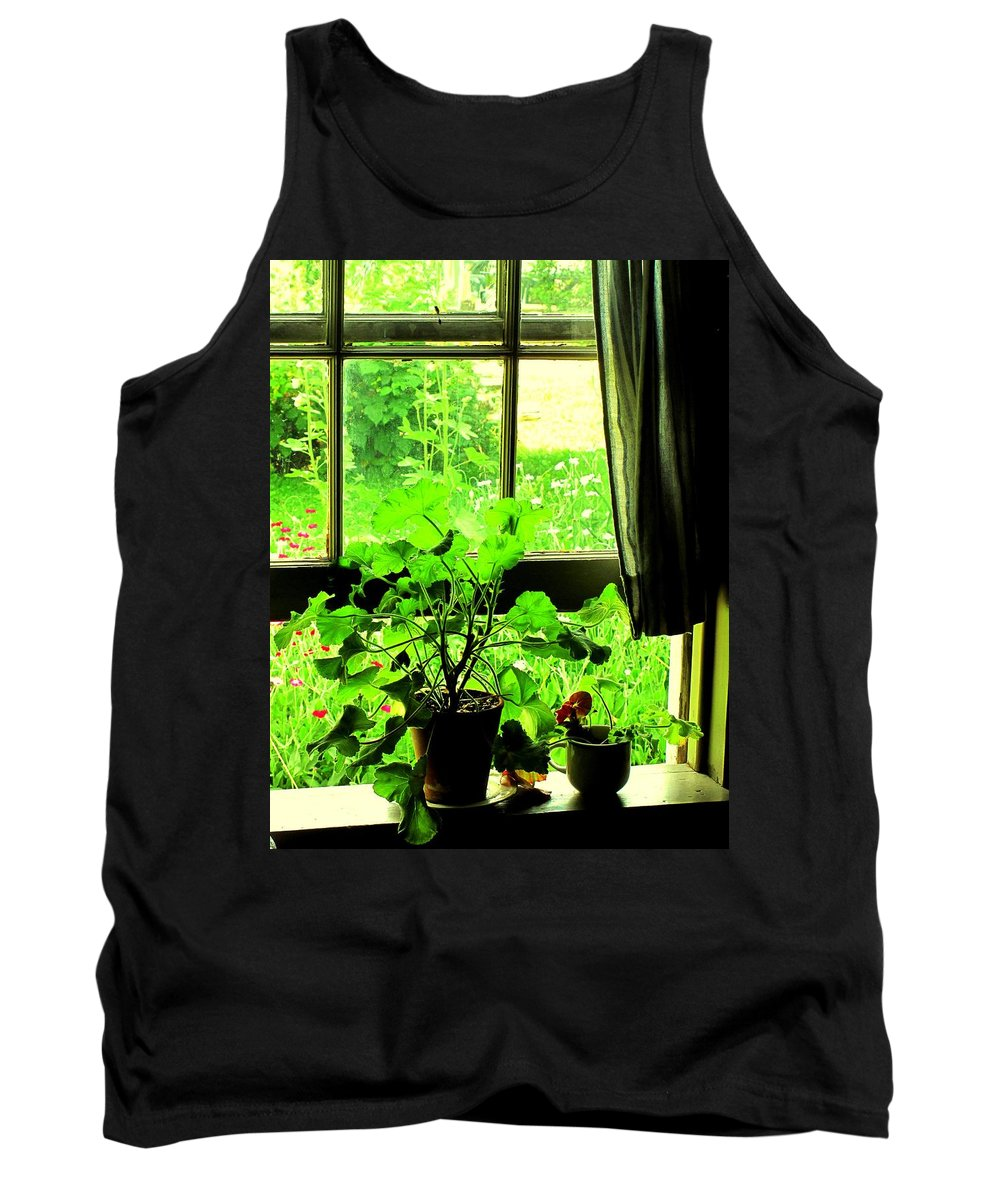 Pioneer Tank Top featuring the photograph Window To The World by Ian MacDonald