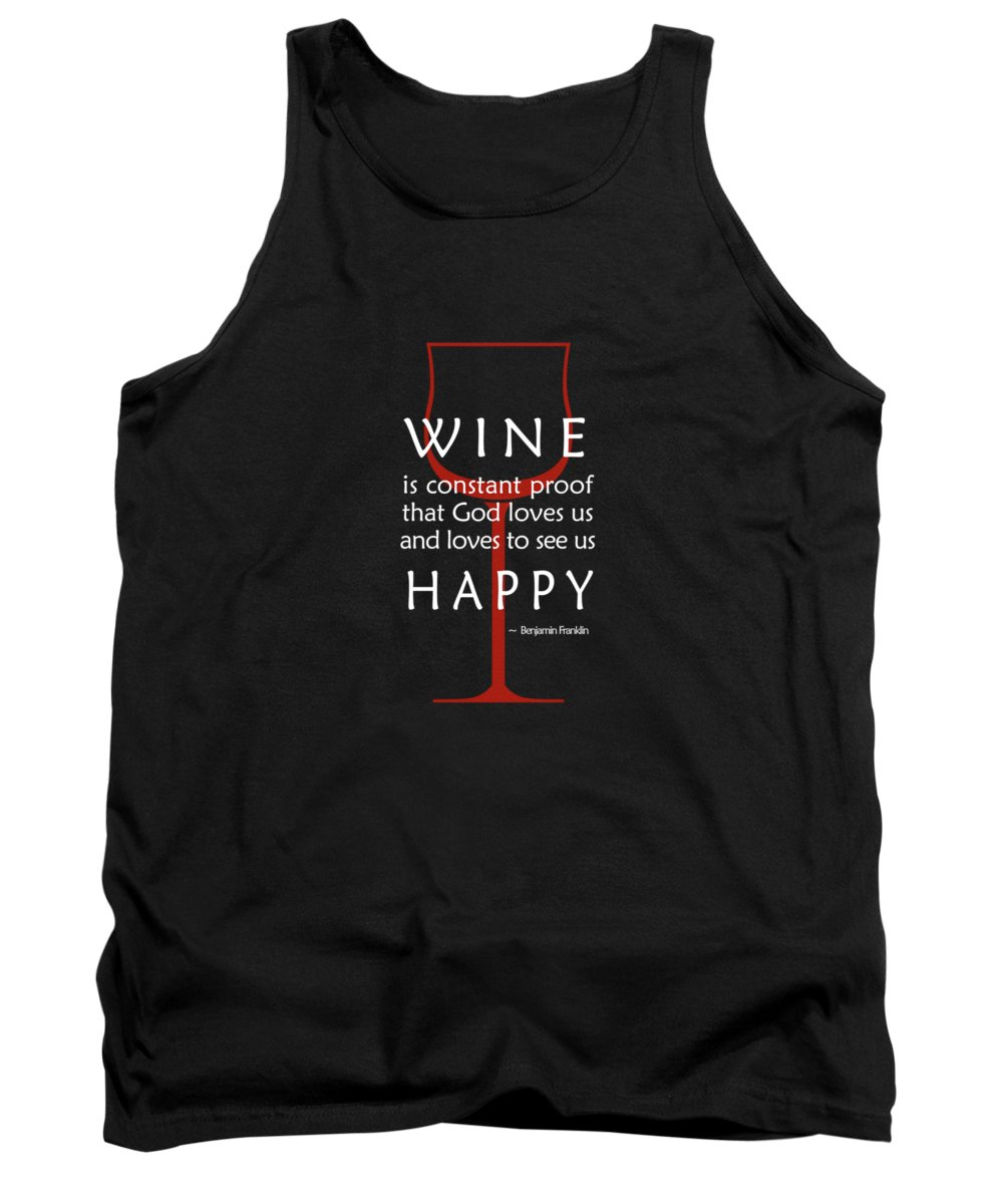 Benjamin Franklin Tank Top featuring the photograph Wine Glasses 2 by Mark Rogan