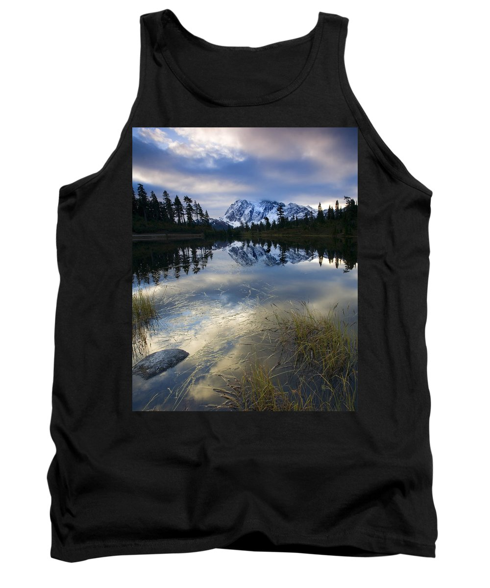 Mt. Shuksan Tank Top featuring the photograph Winter Approaches by Mike Dawson