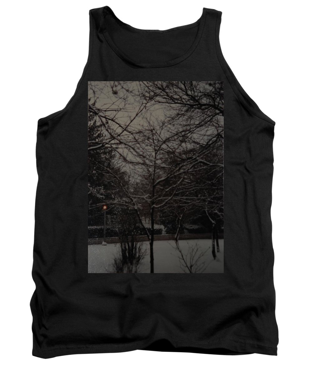 Lights Tank Top featuring the photograph Winter Dusk by Rob Hans