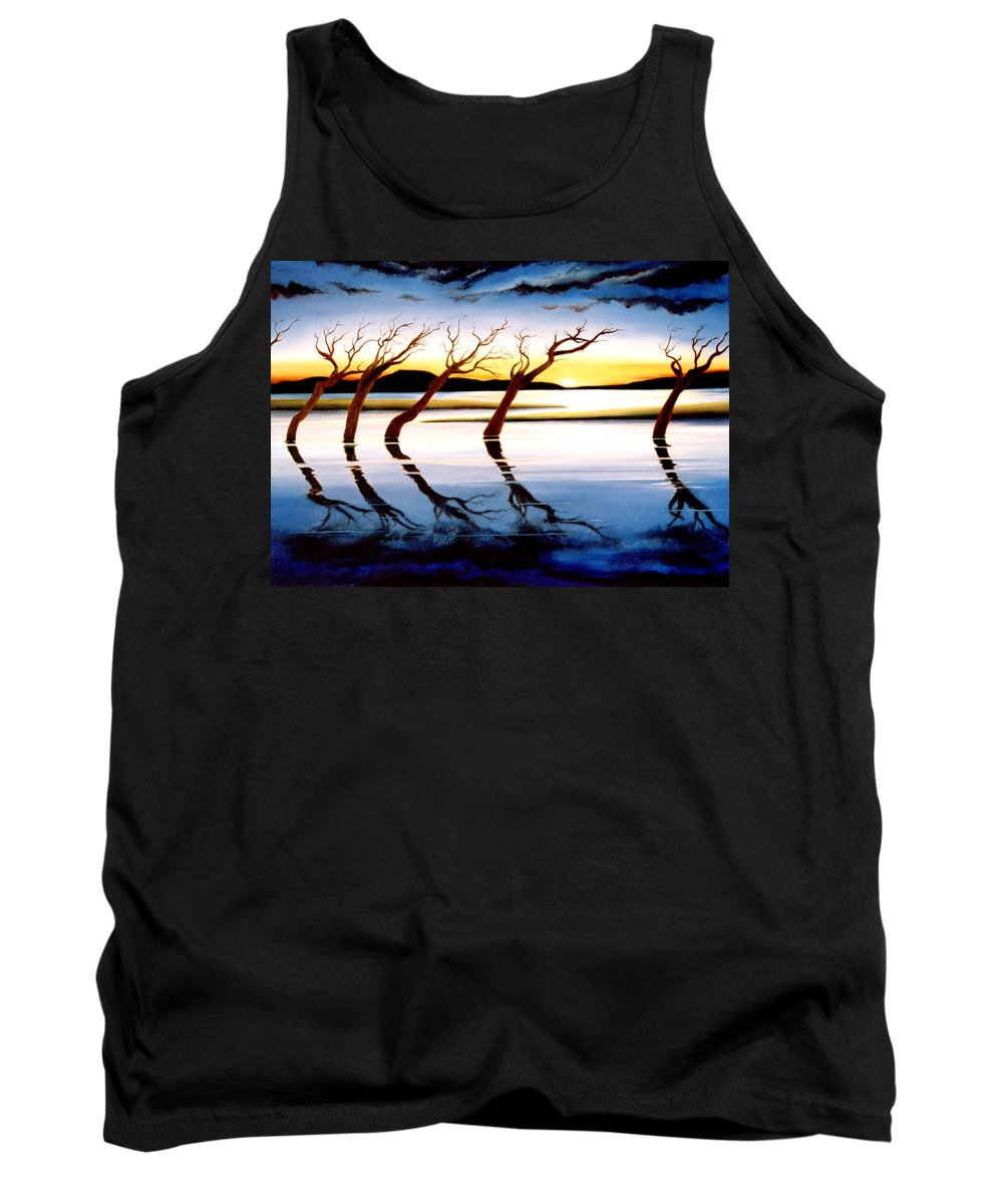 Seascape Tank Top featuring the painting Winter Heatwave by Mark Cawood