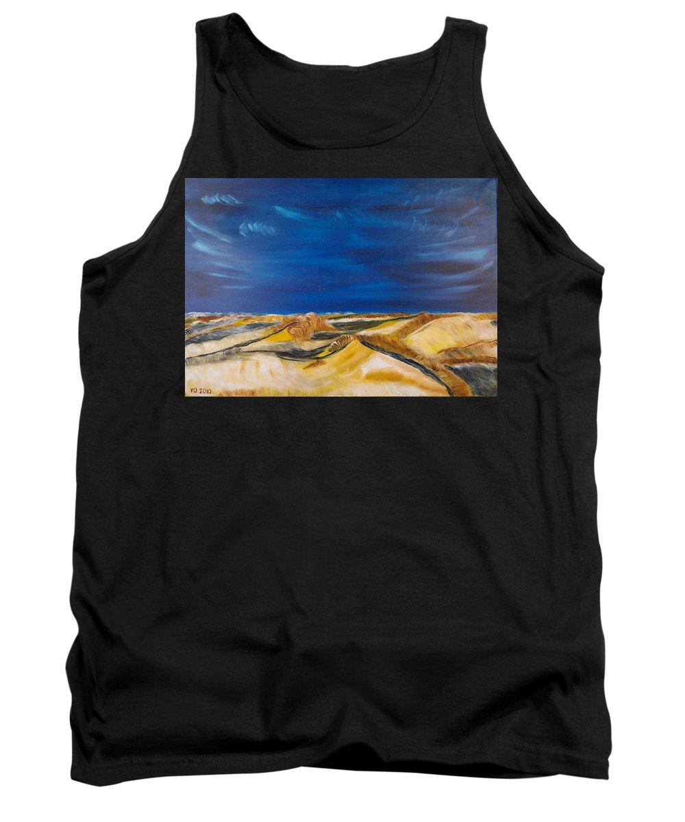 Island Tank Top featuring the painting Winter Impression Of Sylt by Valerie Ornstein