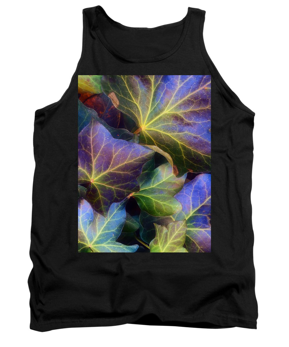 Leaves Tank Top featuring the photograph Winter Leaves by Tara Turner