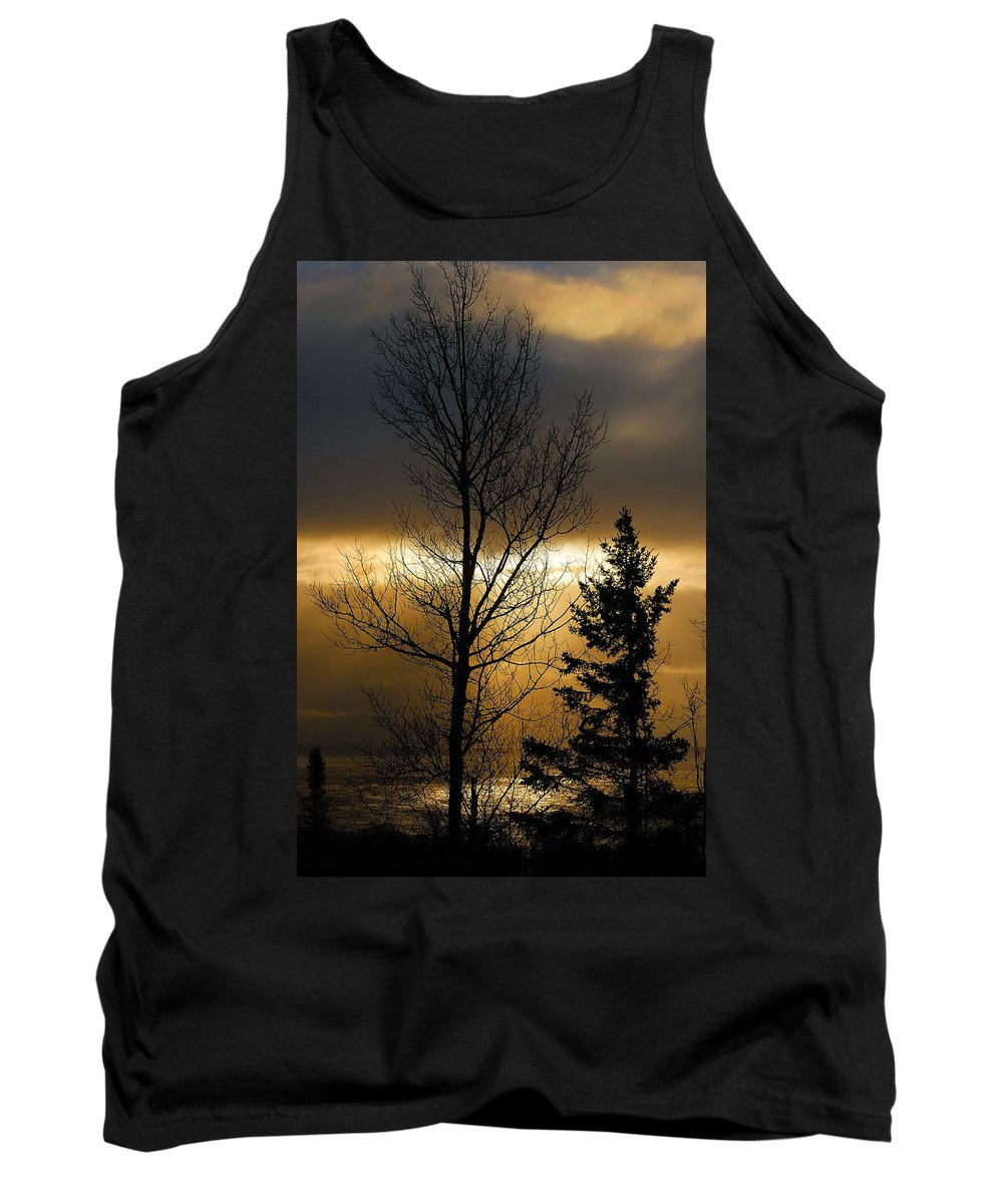 Nature Tank Top featuring the photograph Winter Sunrise 2 by Sebastian Musial