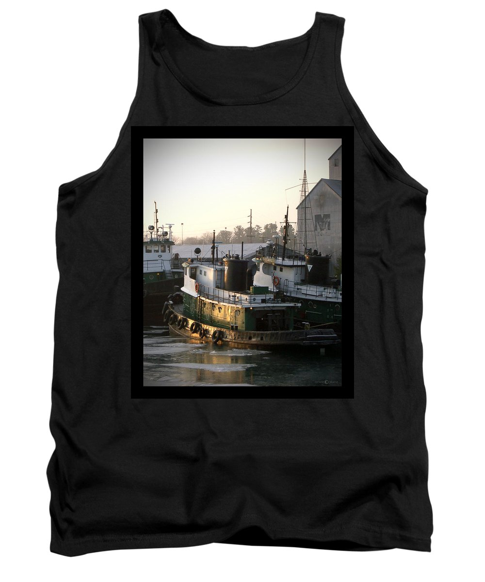 Tugs Tank Top featuring the photograph Winter Tugs by Tim Nyberg