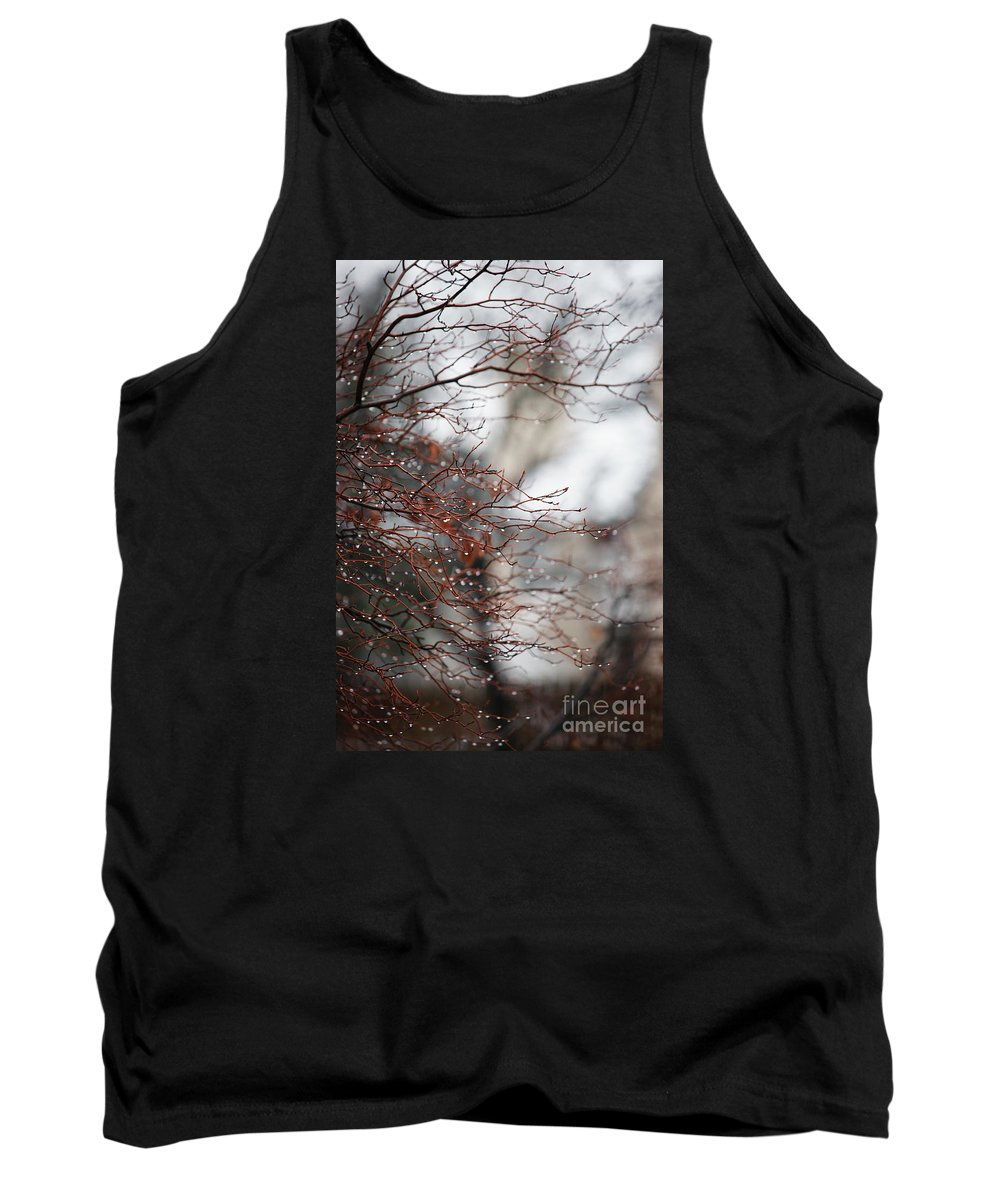 Trees Tank Top featuring the photograph Wintry Mix by Linda Shafer