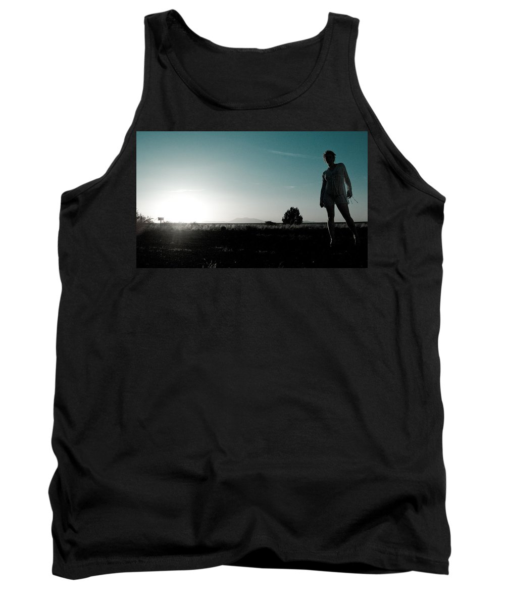 Woman Tank Top featuring the photograph Woman Standng by Scott Sawyer