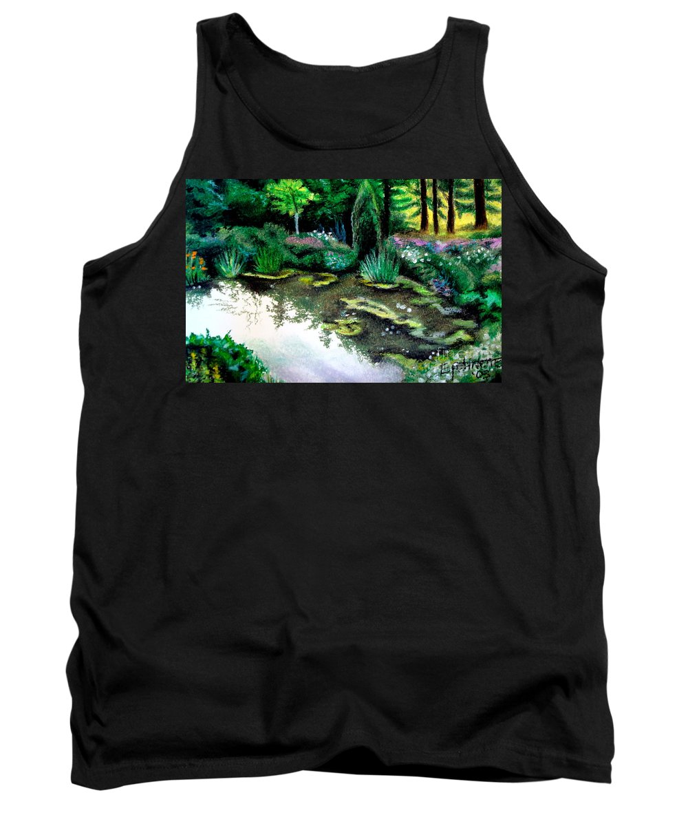 Landscape Tank Top featuring the pastel Woodland Mystery by Elizabeth Robinette Tyndall