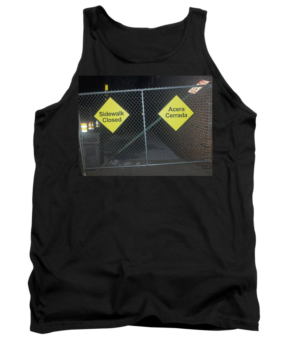 Photograph Tank Top featuring the photograph Work Ahead by Thomas Valentine