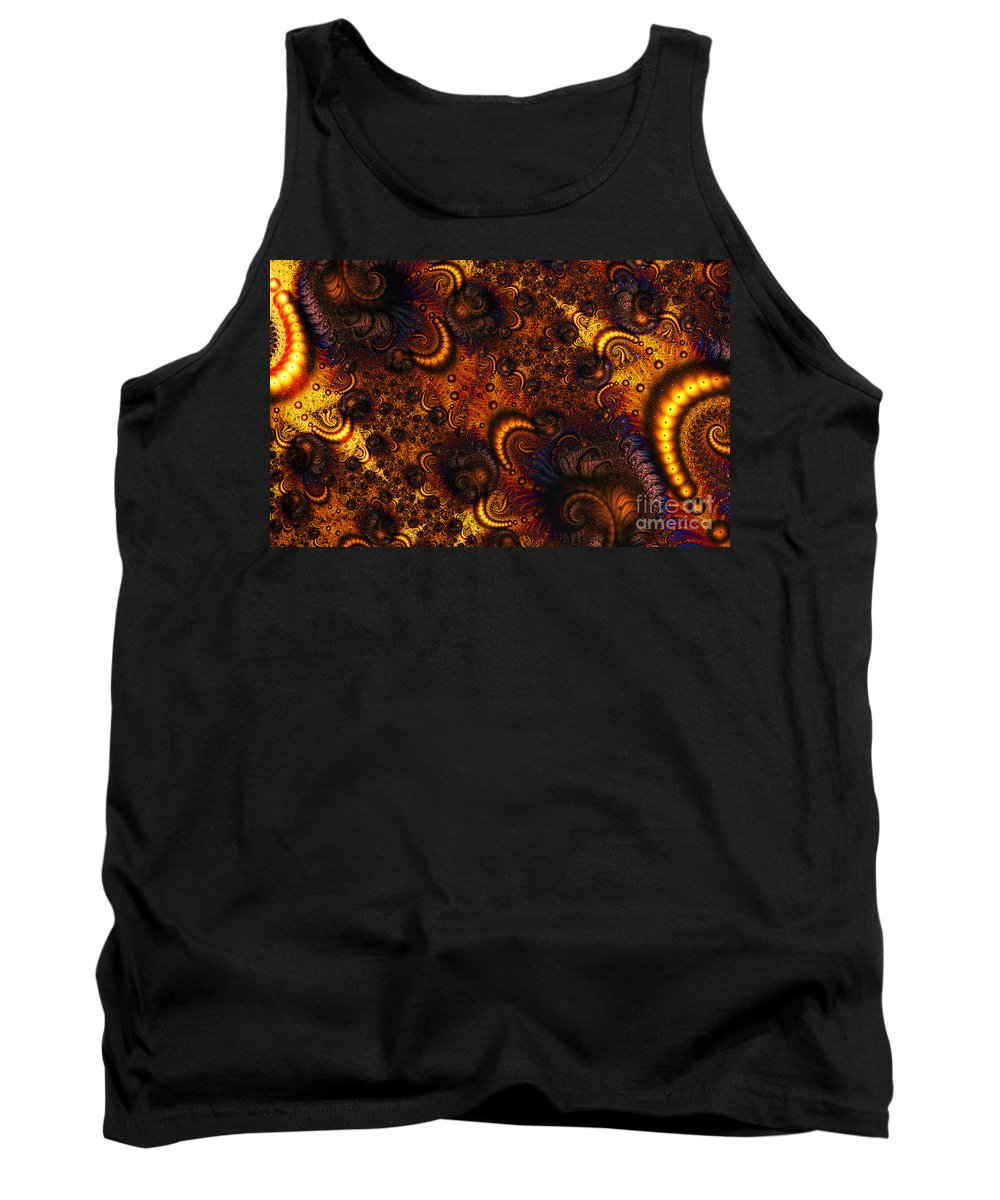 Clay Tank Top featuring the digital art Worm Infestation by Clayton Bruster