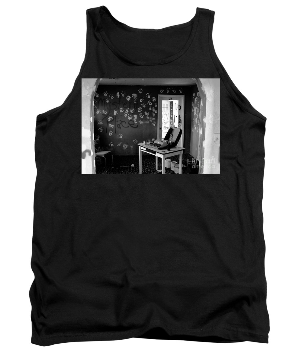 Writing Tank Top featuring the photograph Writers Station by David Lee Thompson