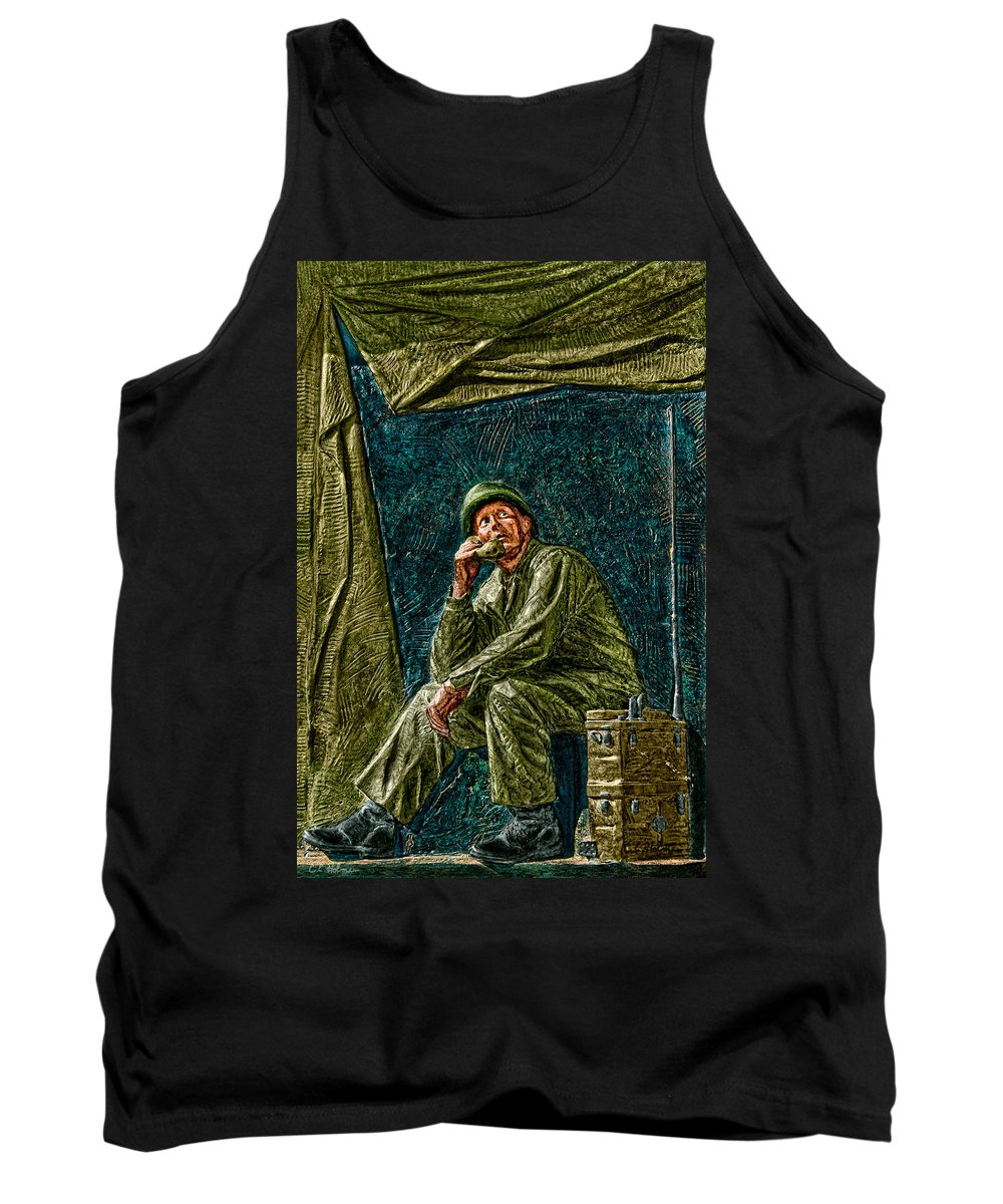 National Wwii Memorial Tank Top featuring the photograph Wwii Radioman by Christopher Holmes