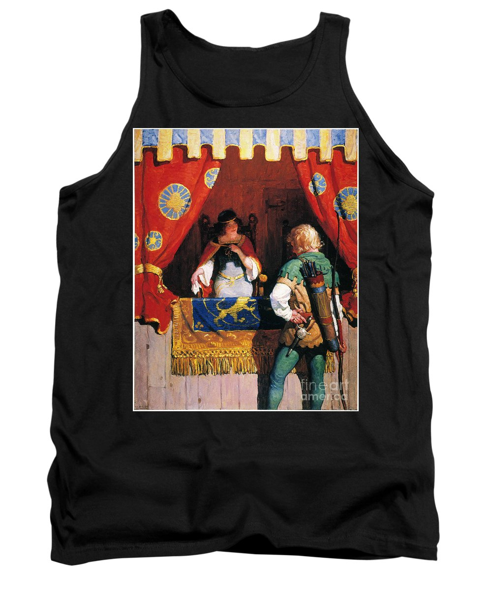 Tank Top featuring the painting Wyeth: Robin Hood & Marian by Granger