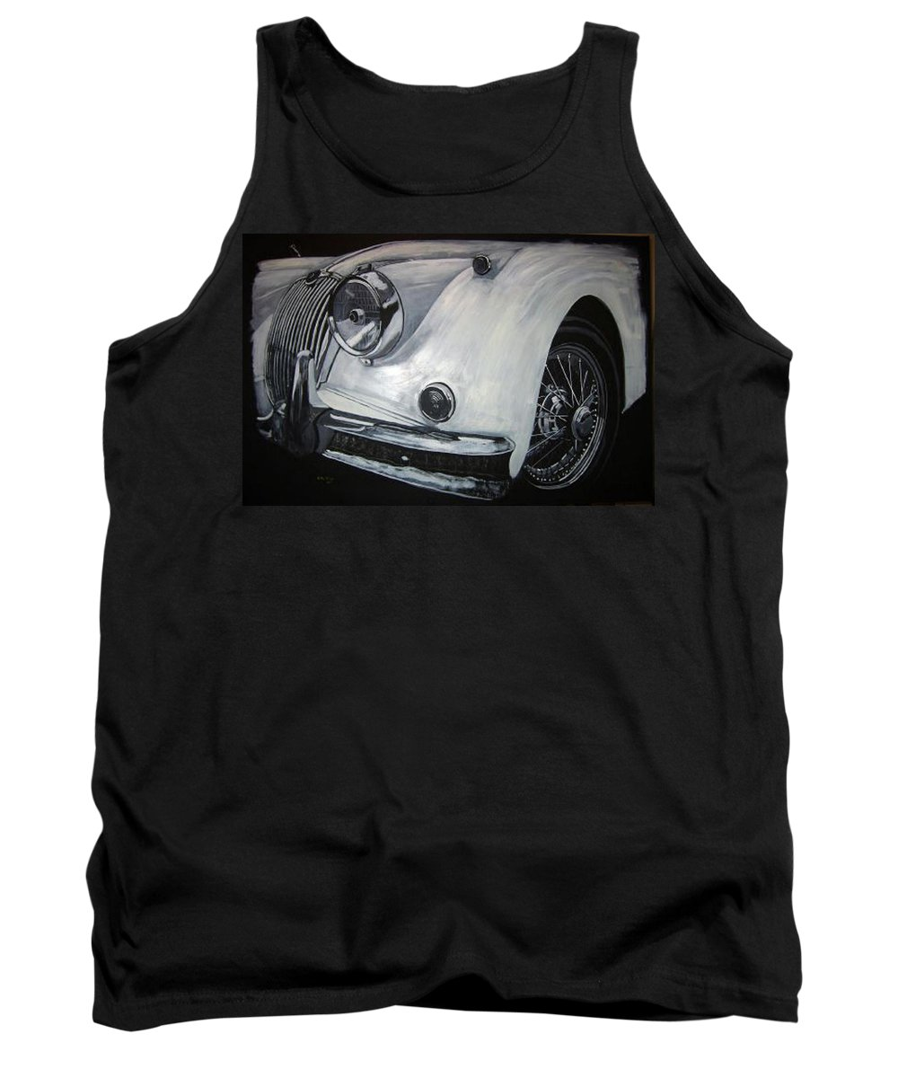 Car Tank Top featuring the painting Xk150 Jaguar by Richard Le Page