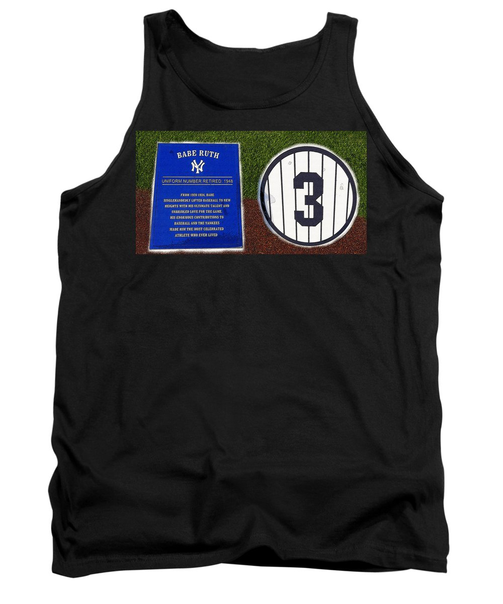Art Tank Top featuring the painting Yankee Legends Number 3 by David Lee Thompson