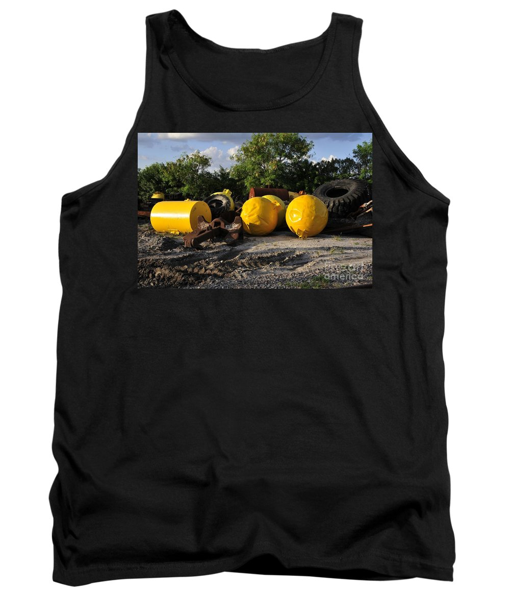 Yellow Tank Top featuring the photograph Yellow by David Lee Thompson