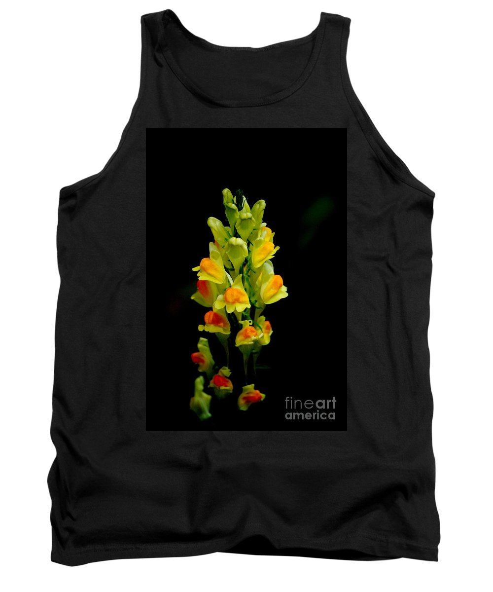 Digital Photograph Tank Top featuring the photograph Yellow Floral 7-24-09 by David Lane