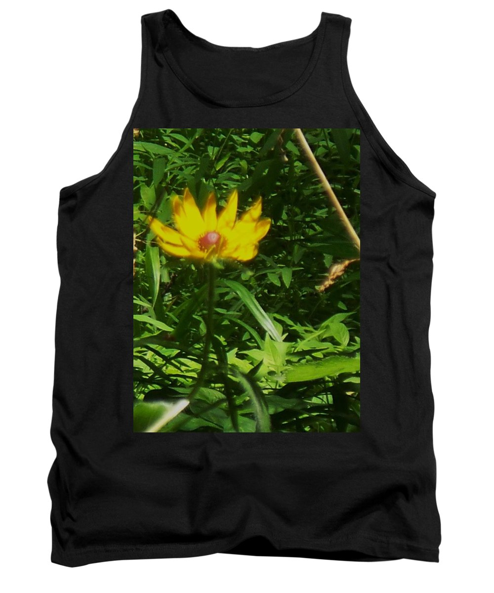 Flower Tank Top featuring the photograph Yellow Flower by Eric Schiabor