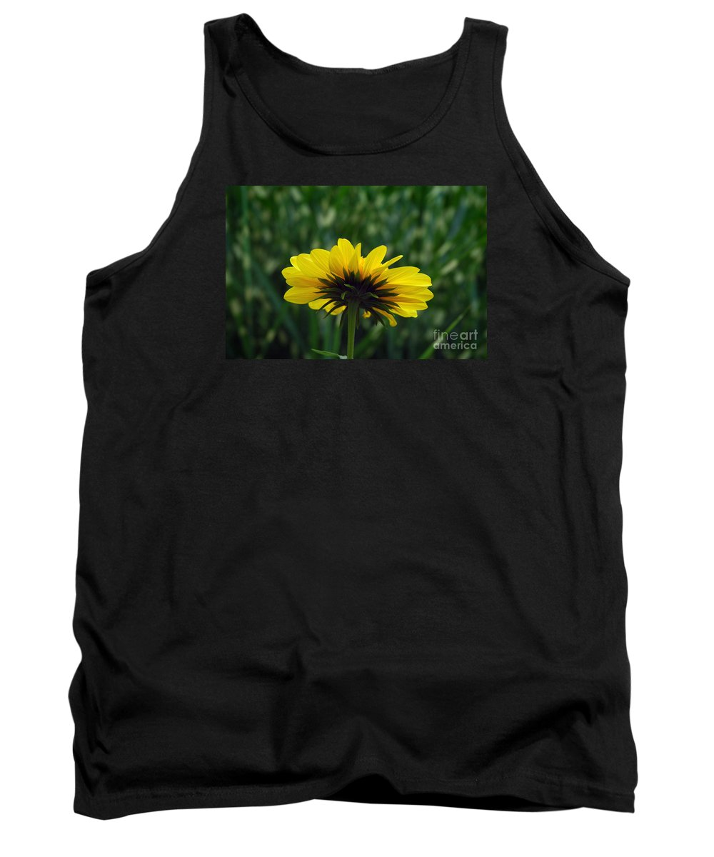 Flower Tank Top featuring the photograph Underside, Petals, Yellow by Michael Ziegler