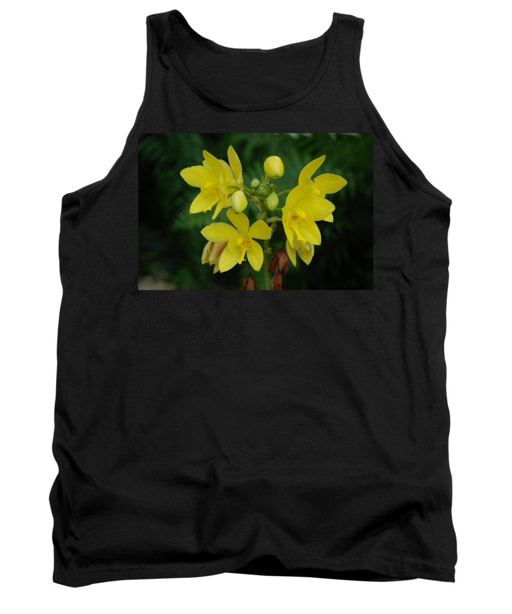 Macro Tank Top featuring the photograph Yellow Flower by Rob Hans