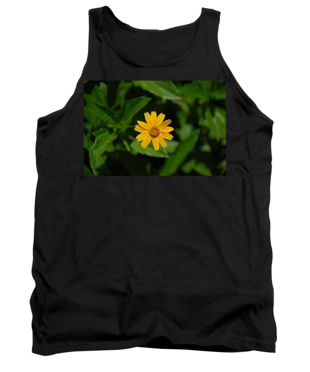 Macro Tank Top featuring the photograph Yellow by Rob Hans
