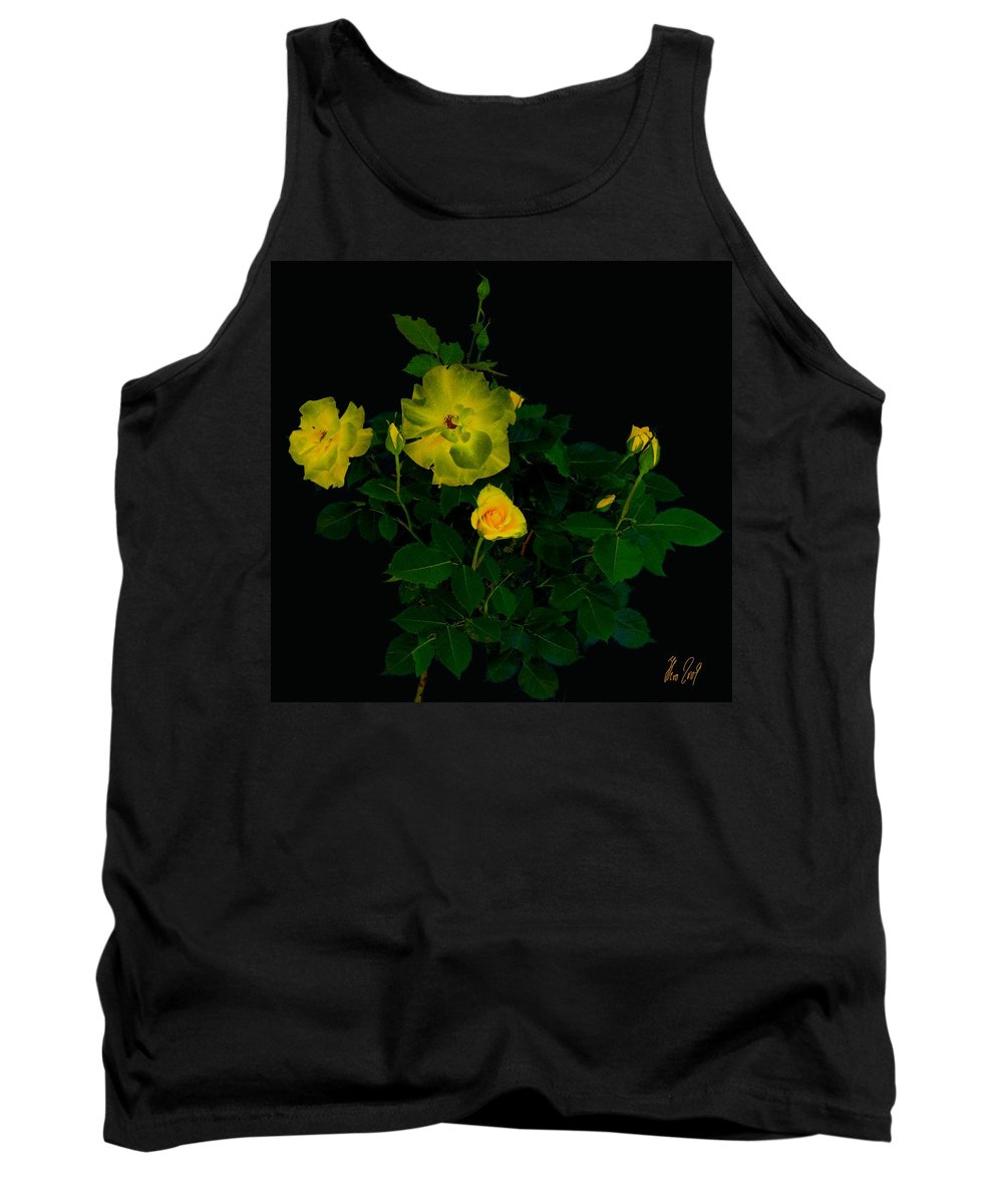 Rose Tank Top featuring the photograph Yellow Roses by Helmut Rottler