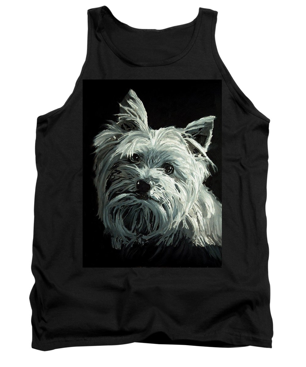 Animals Tank Top featuring the painting Yorkie by Portraits By NC