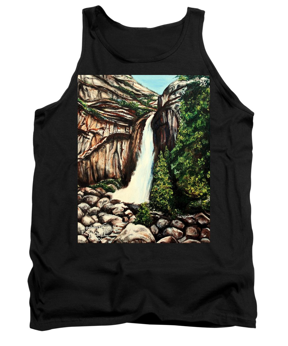 Landscape Tank Top featuring the painting Yosemite Falls by Elizabeth Robinette Tyndall