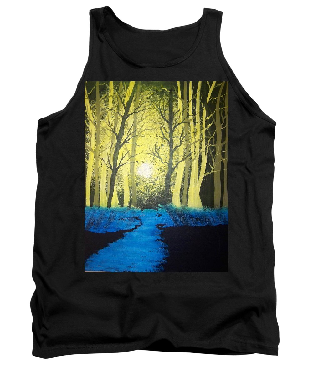 Forest Tank Top featuring the painting You Cant See The Forest For The Trees by Laurie Kidd